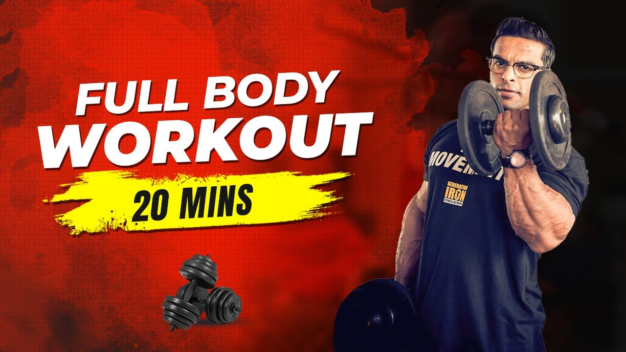 Download 20 Min Full Body Workout With Dumbbells (Beginner to Advanced)   Yatinder Singh