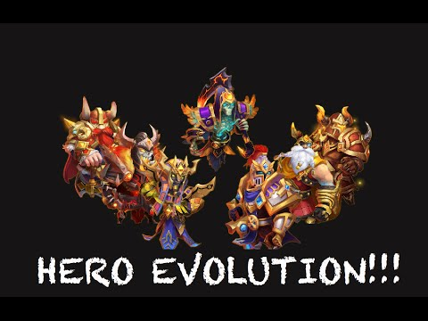 Castle Clash Hero Evolution