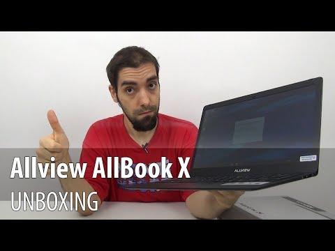 Allview AllBook X Unboxing (Laptop Allview cu design metalic, ecran de 13.3 inch)