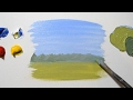 How to Paint a Simple Landscape - For Beginners