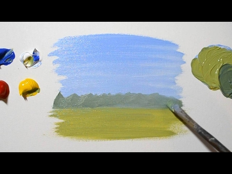 How to Paint a Simple Landscape – For Beginners