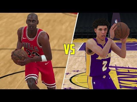 Can Lonzo Ball Beat Michael Jordan In A 1v1? NBA 2K18 Gameplay!