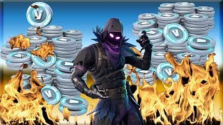 Kids Begging for V Bucks and Being The First Person To Buy Raven Skin Fortnite (*GONE WRONG*)