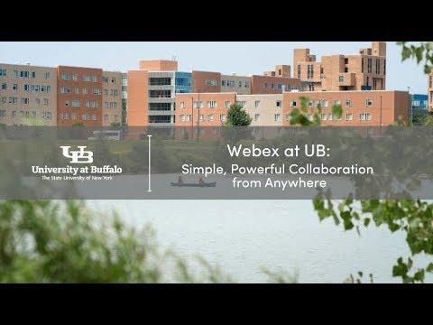 Webex - UBIT - University at Buffalo