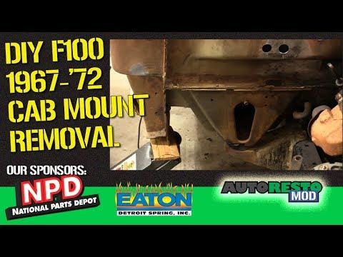 F100 Bumpside '67 '72 Cab Mount Removal Autorestomod Episode 378