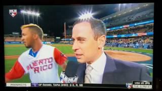 Puerto Rico vs the Netherlands extra inning win.