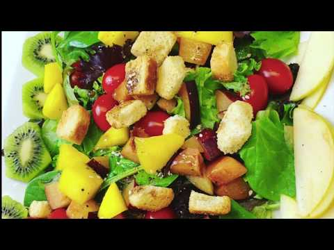 Fruit and Vegetable Salad: Recipe: How to Make the BEST: Vegetarian:DishesByQ: Episode#6