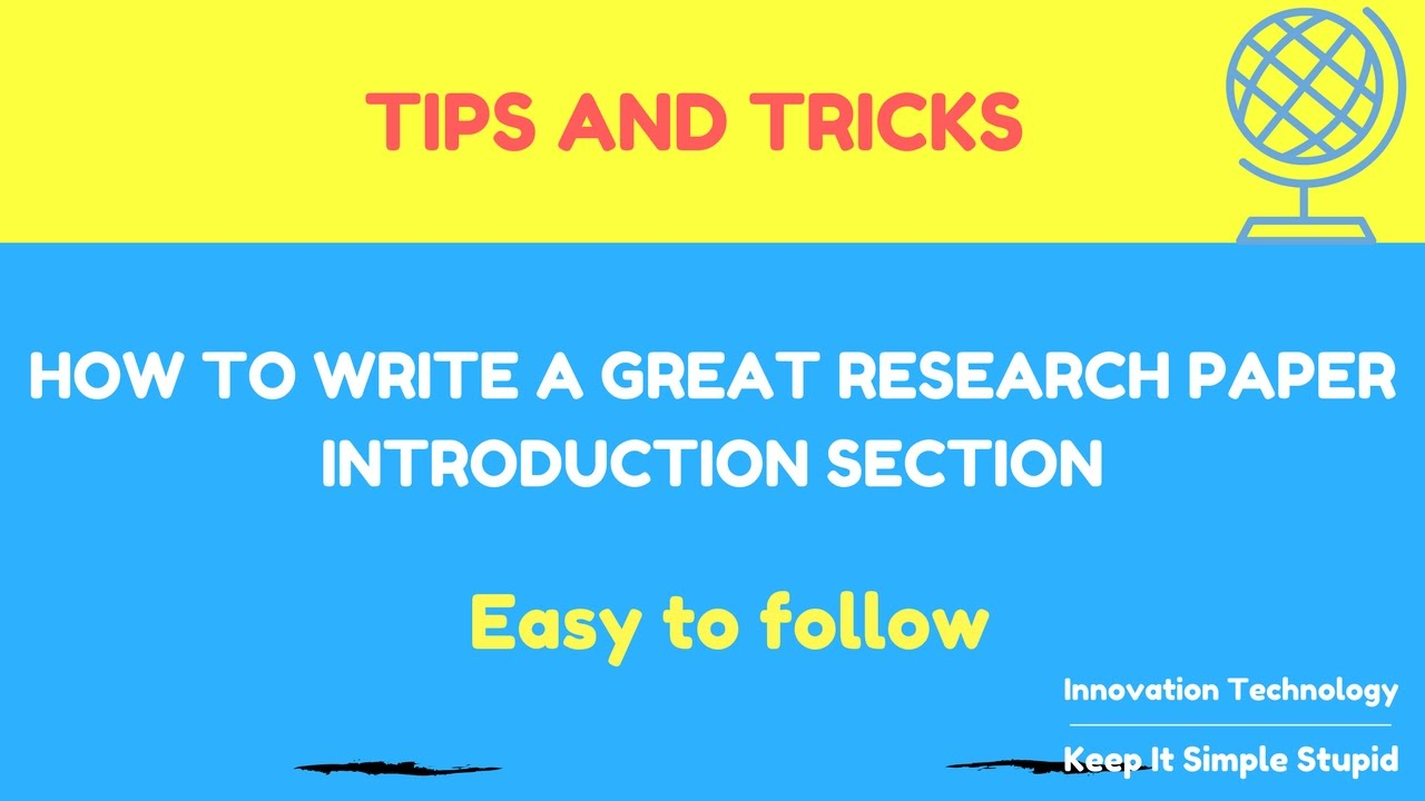 how to write a good research paper introduction