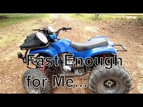 Taotao Atv Speed Test Atv Goes Faster Than I Can Control With One Hand Spped Test Just In Case