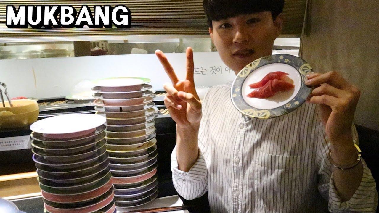 VLOG | 회전 초밥 먹방 브이로그 리얼먹방 SUSHI & 寿司 MUKBANG REAL SOUND EATING SHOW