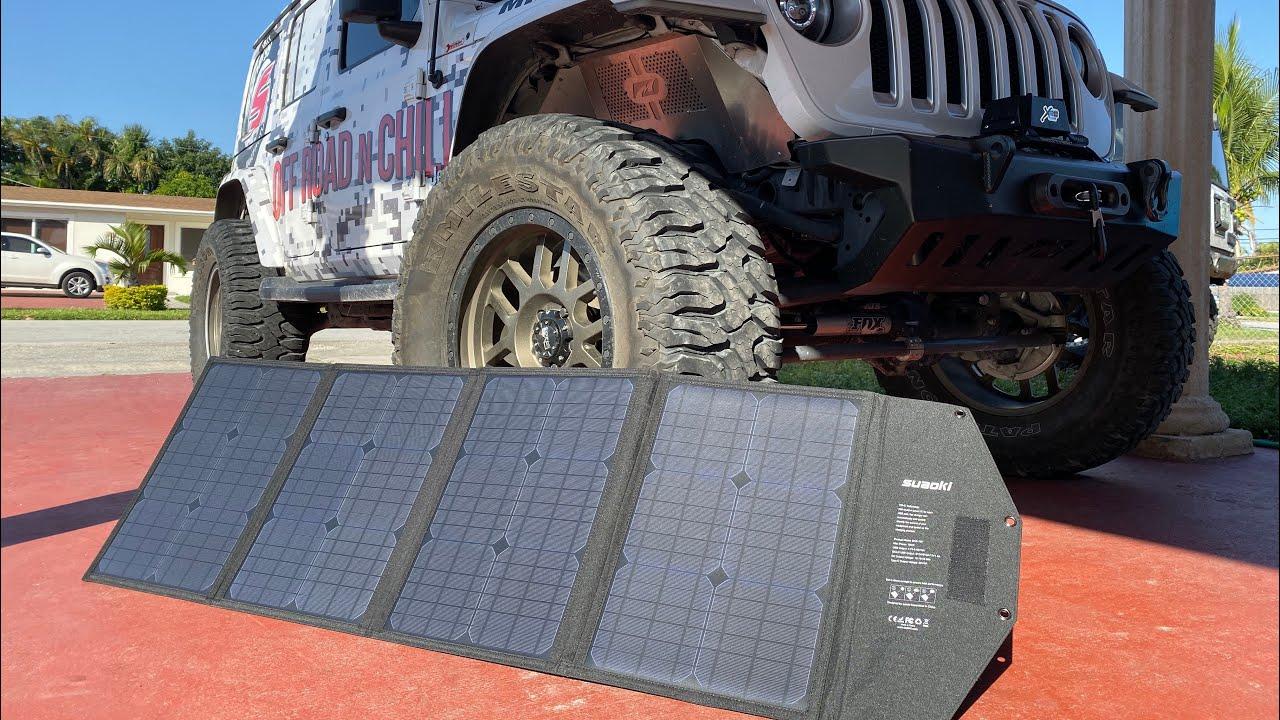 Best Jeep Solar Overlanding Setup | Suaoki Solar Generator + Panel