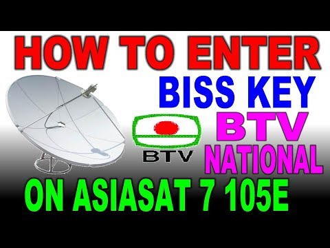 How to enter biss key BTV NATIONAL on asiasat 7 105E