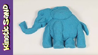 Kinetic Sand Jokes - Squishing Blue