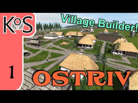 Ostriv LIVESTREAM - City/Village Builder - First Look - Let's Play, Gameplay