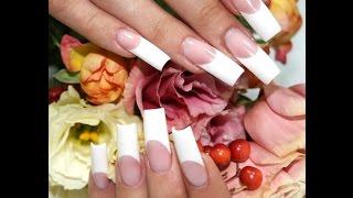 Видео урок №3 наращивание ногтей: френч с идеальной линией улыбки, выкладной