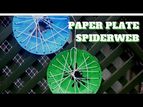 Halloween Craft - Paper Plate Spiderweb - Paper Plate Crafts