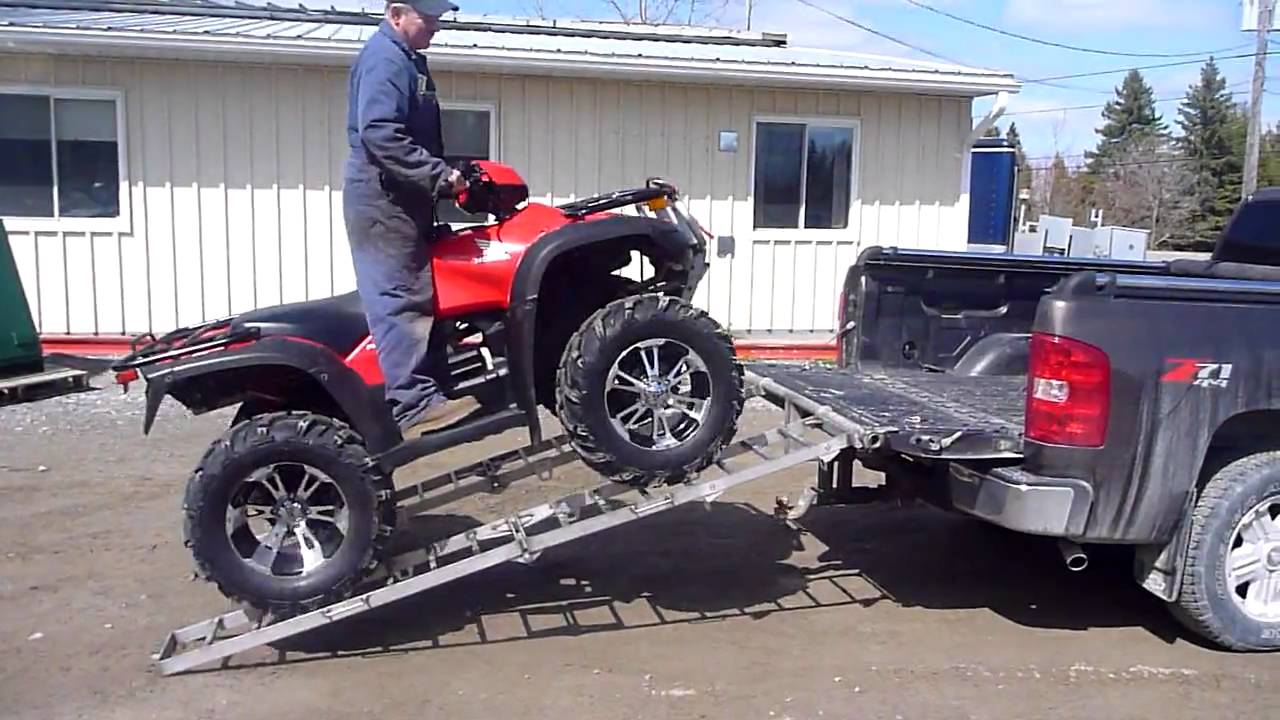 Atv Truck Ramps >> Atv Loading Ramps And Still Pull A Small Trailer Youtube