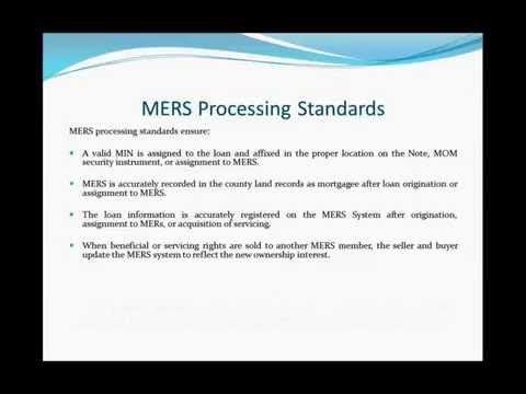 Mortgage Banking Compliance - MERS and AML