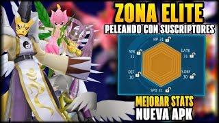 NUEVA APK TAMER FRONTIER - JUEGO DE DIGIMON PARA ANDROID / iOS - ZONA ELITE Y COMO MEJORAR STATS