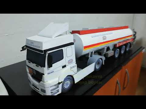 Model Mercedes Axor auto recovery construction/Maket Mercedes Axor oto kurtarma yapımı