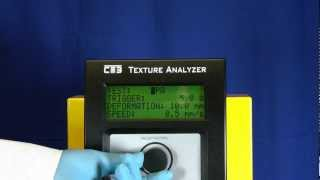 Brookfield  CT3 Texture Analyzer review - Test Modes Thumbnail