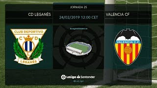 Calentamiento CD Leganés vs Valencia FC