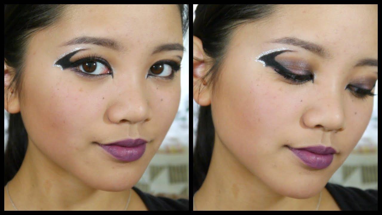 Halloween Makeup Tutorial: Bat Winged Eyeliner - YouTube