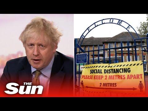 Boris Johnson insists schools are safe and children should return