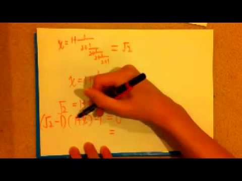 Express surds in continued fraction form - (中文CANTO) - Extension數學 Part 2