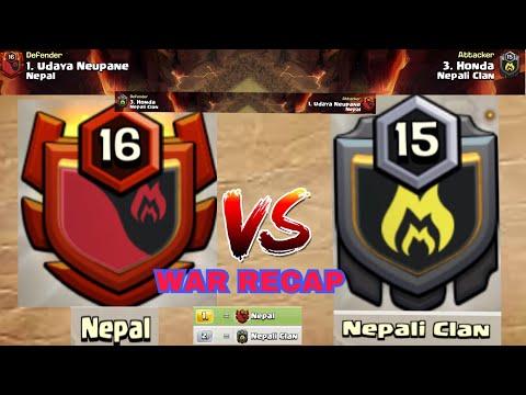Udaya Neupane V/S Honda || Top Two Clans - Nepal V/S Nepali Clan WAR RECAP || CLASH OF CLANS ||