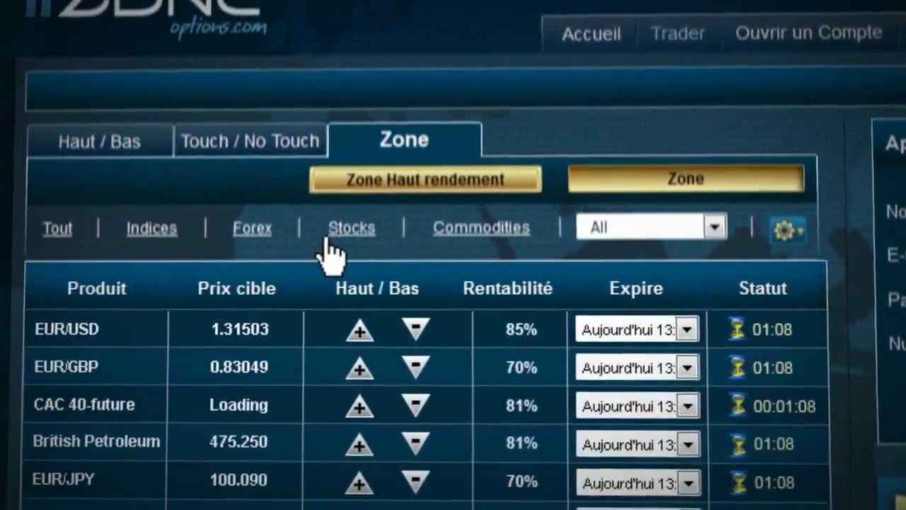 Livre trader option binaire