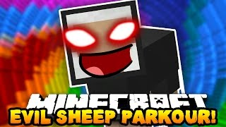 Minecraft EVIL SHEEP PARKOUR! (KILL THE EVIL SHEEP BOSS!!) | w/ PrestonPlayz & Tyler