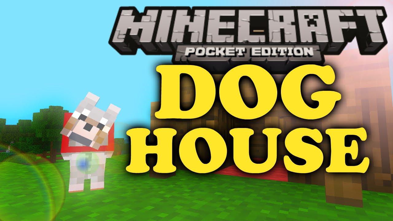 Minecraft pe how to make a dog house youtube for How to build a dog house youtube