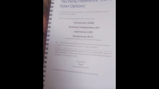ELECTION CALIFORNIA ALERT - California poll workers are being given *official* training to give ...