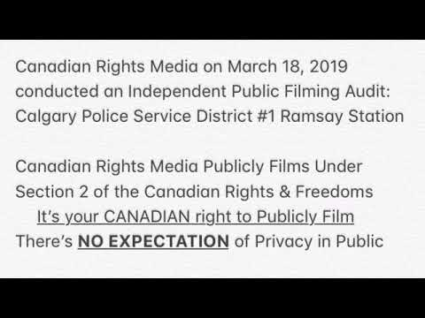 Canadian Rights Audit: Revisit Calgary Police Service