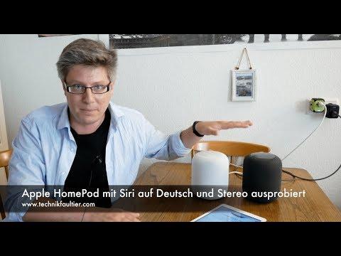 Apple HomePod mit Siri auf Deutsch und Stereo ausprobiert