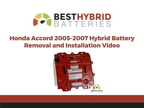 Honda Accord 2005-2007 Hybrid Battery Removal and Installation