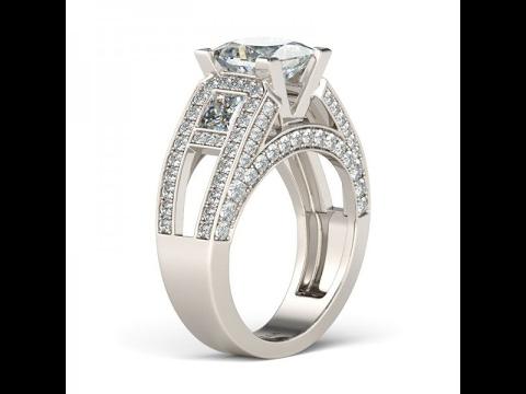 White Sapphire Women's Engagement Ring