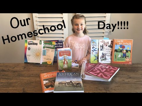 HOW I HOMESCHOOL | OUR HOMESCHOOL DAY | MY FATHERS WORLD