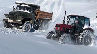Трактор ЛТЗ 60 против УРАЛ 6Х6 | Сровнение на подъеме 2020
