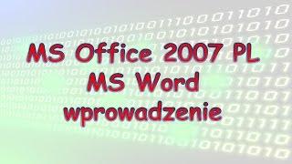019 MS Word 2007 wprowadzenie