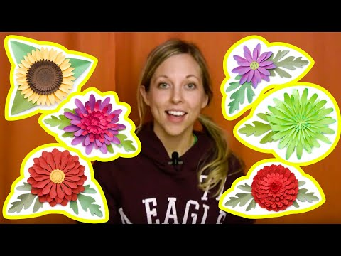 3D Mums and Fall Flowers Assembly Tutorial - Part 1