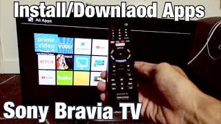 Sony Bravia TV: How to Download/Install Apps