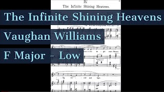 The Infinite Shining Heavens Piano Accompaniment Low Key Songs of Travel Karaoke