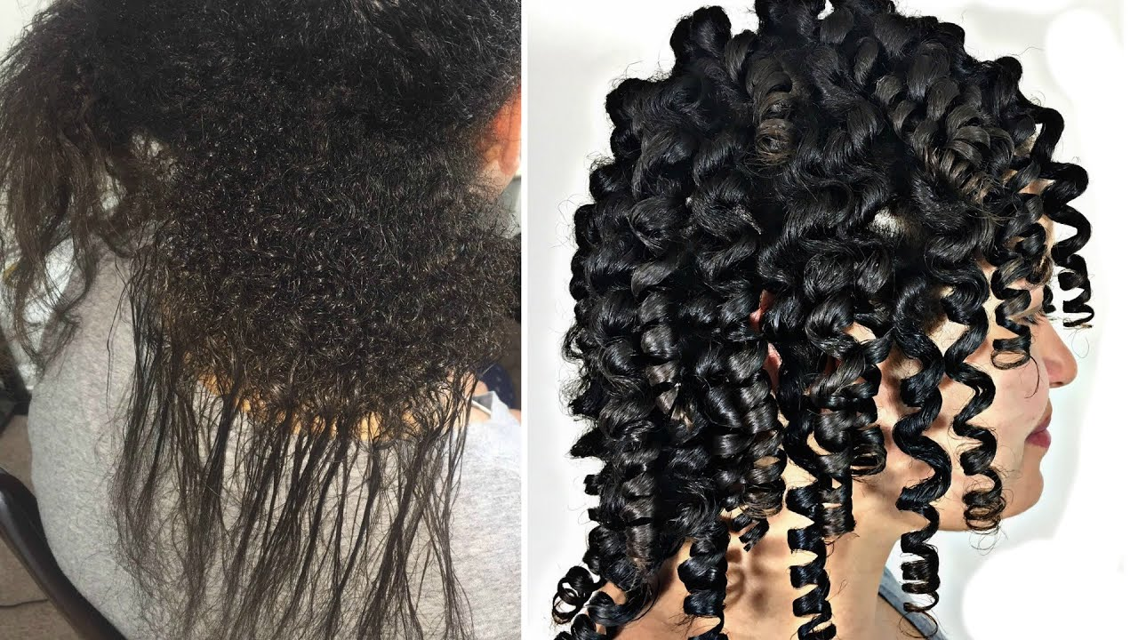 Beautiful Flexi Rod Curls On Transitioning Hair For