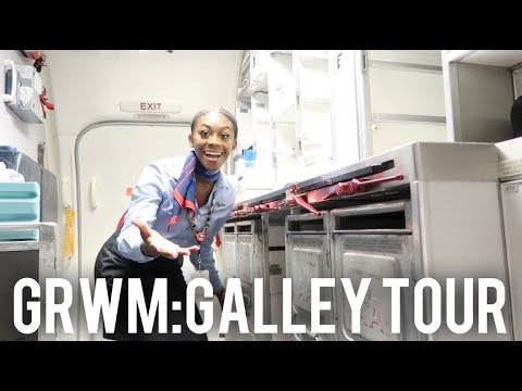 GETTING READY FOR A TRIP AND GALLEY TOUR | FLIGHT ATTENDANT VLOG