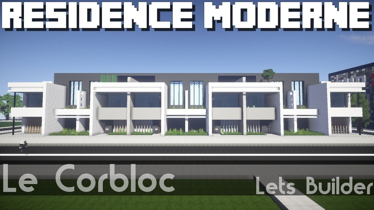 Minecraft r sidence moderne youtube for Minecraft modernes haus download 1 7 2