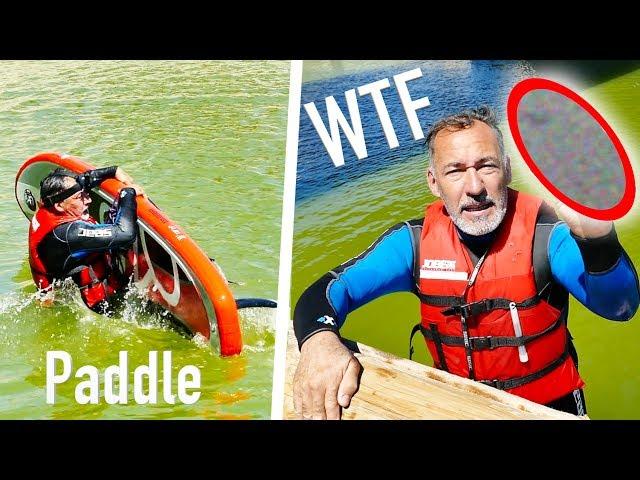 WTF JE TROUVE UN 😱😱😱😱 DANS L'EAU EN PADDLE CHRISDETEK PECHE A L'AIMANT BULLDOG SURF
