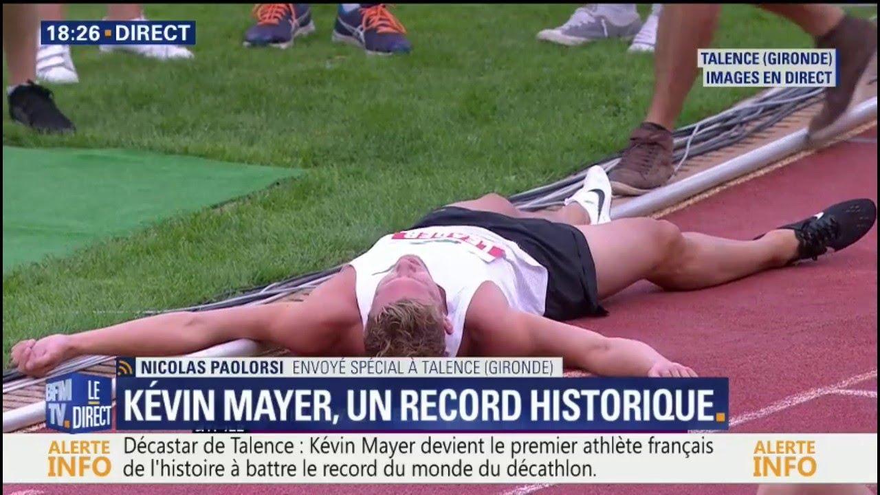 Il l'a fait ! Le Français Kévin Mayer vient de battre le record du monde du décathlon