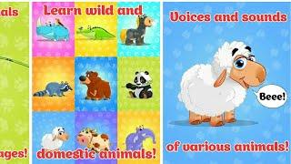 Let's Play • Zwierzęta i odgłosy dla dzieci • Nauka zwierząt dla najmłodszych, bajki, Gry dla dzieci